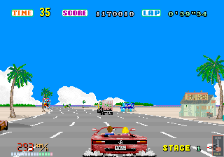 OutRun Arcade Overtake the Truck.