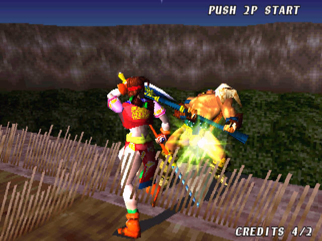 Soul Blade Arcade Kick - and out of ring