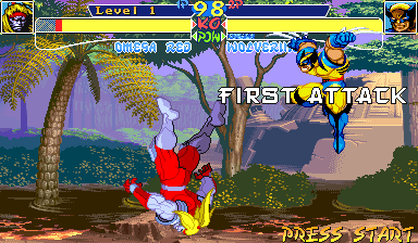 X-Men: Children of the Atom Arcade Wolverine's first attack