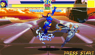 X-Men: Children of the Atom Arcade Like uppercut
