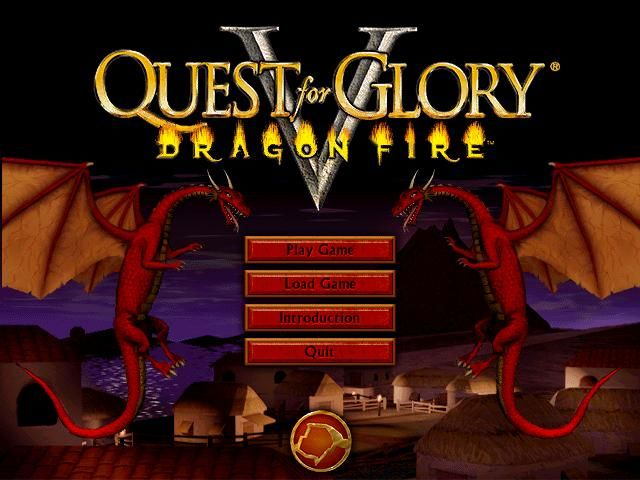 Quest for Glory V: Dragon Fire Windows Title Screen