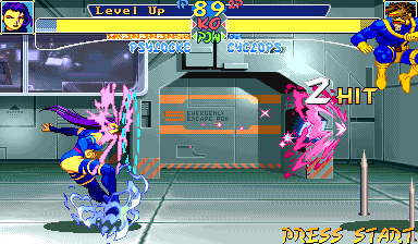 X-Men: Children of the Atom Arcade Mental attack