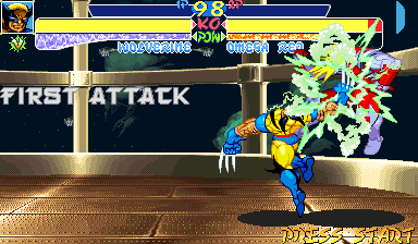 X-Men: Children of the Atom Arcade Hard attack