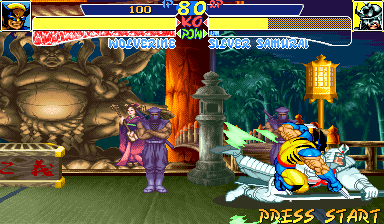 X-Men: Children of the Atom Arcade Silver Samurai has troubles