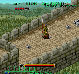Dark Seal Arcade On castle wall