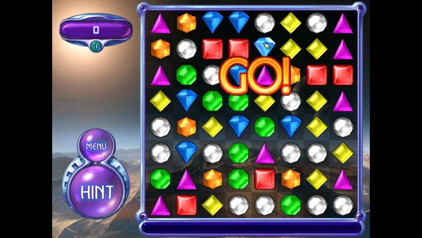 Bejeweled 2: Deluxe Windows This is the first gameplay for 'Bejeweled 2'.