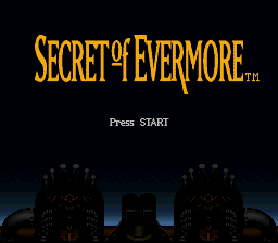Secret of Evermore SNES Title screen