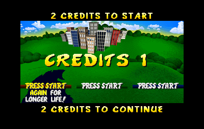 Rampage World Tour Arcade Inserting credits