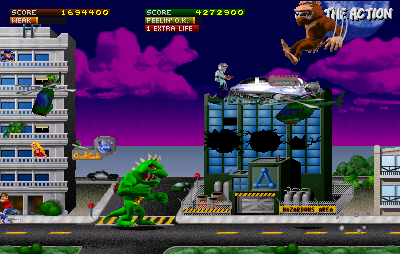 Rampage World Tour Arcade Hazards are plenty