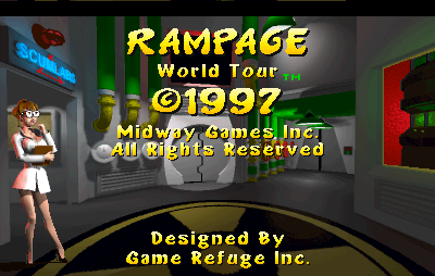 Rampage World Tour Arcade Legal screen