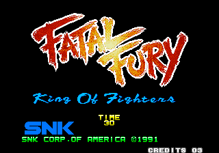 Fatal Fury Arcade Title screen