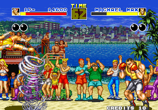 Fatal Fury Arcade Michael can use tornado