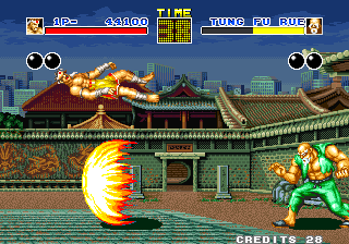 Fatal Fury Arcade Flame attack