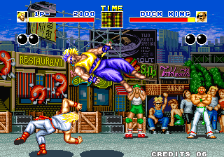 Fatal Fury Arcade Throw Duck King