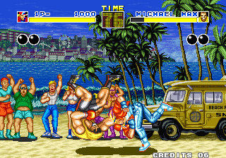 Fatal Fury Arcade Michael has bad day