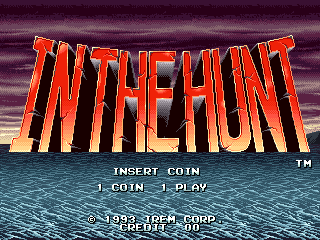 In the Hunt Arcade Title screen