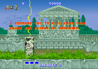 Altered Beast Arcade You are commanded.
