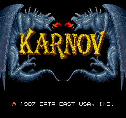 Karnov Arcade Title screen