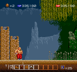 Karnov Arcade Stage 7: Forest Region (beginning)