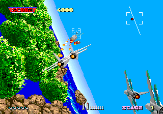 After Burner Arcade Trying to avoid the rocket