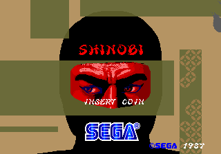 Shinobi Arcade Title screen