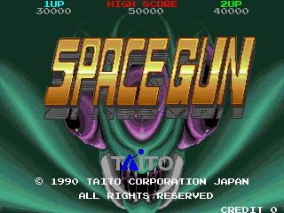 Space Gun Arcade Title Screen.