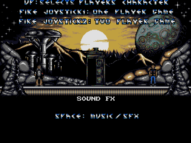 Dalek Attack Amiga Pick your character