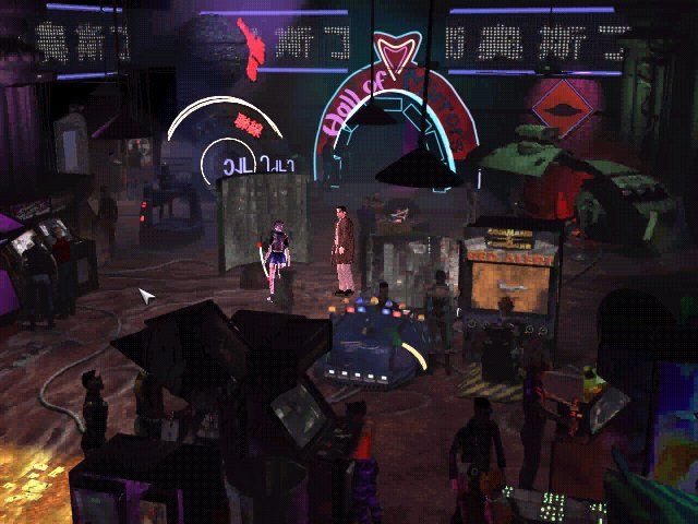 Blade Runner Windows you can even notice Red Alert gaming machine in this gamezone