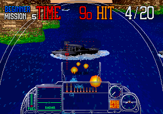 G-Loc Air Battle Arcade Destroy ship