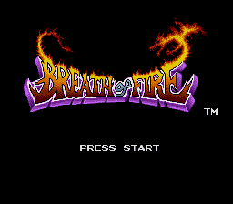 Breath of Fire SNES Title