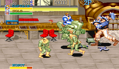 Captain Commando Arcade Boss fight while riding a mech
