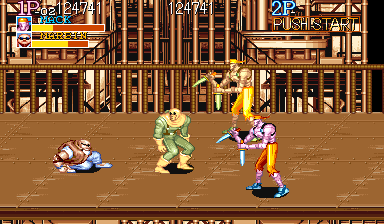 Captain Commando Arcade The enemy boss takes the form of the player here