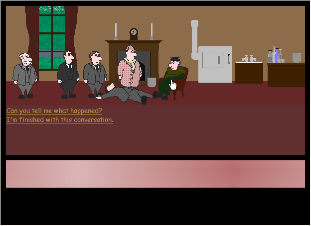 Lozenge and Hampshire: The Case of the Curious Odor Browser The dialogue is rather standard.