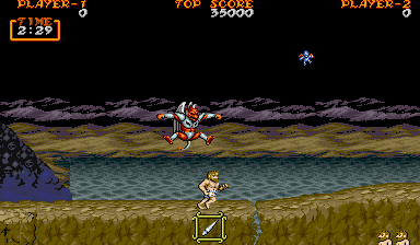 Ghouls 'N Ghosts Arcade Demon chases me