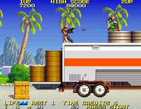 Rolling Thunder 2 Arcade Up on a truck
