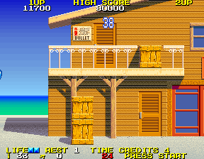 Rolling Thunder 2 Arcade Entered a door for some bullets