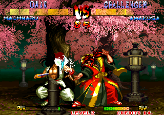 Samurai Shodown III: Blades of Blood Arcade Energy ball in face