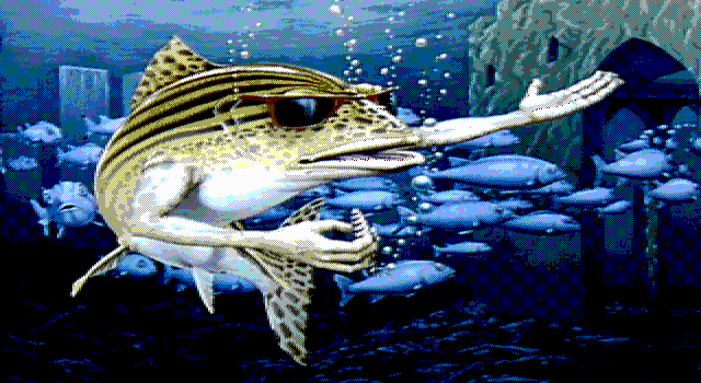 Fish DOS Title screen (EGA)
