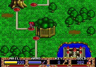 Popful Mail SEGA CD The map screen just serves as a way to get from level to level.