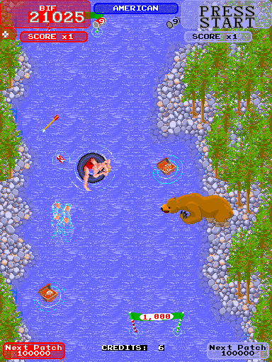 Toobin' Arcade Bear going fishing