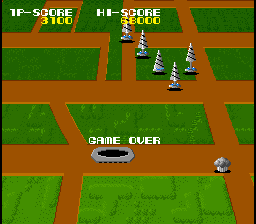 MagMax Arcade Game over screen