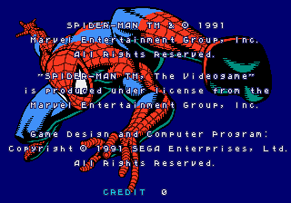 Spider-Man: The Videogame Arcade Licence.