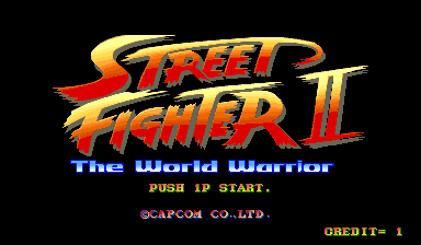 Street Fighter II Arcade Title screen