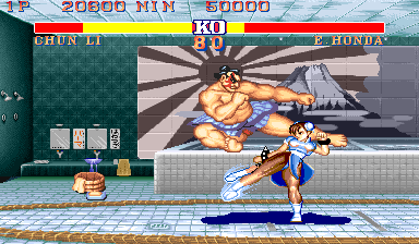 Street Fighter II Arcade Sumo's jumping kick