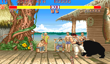 Street Fighter II Arcade Electric attack