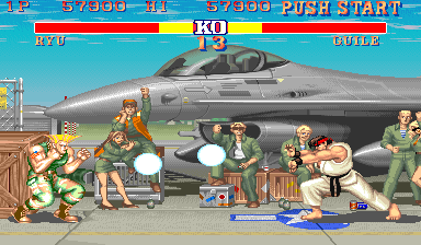 Street Fighter II Arcade Clash of powers