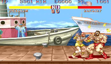 Street Fighter II Arcade Zangief sees birds
