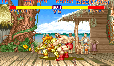 Street Fighter II Arcade Wrestling attack