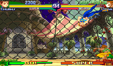 Street Fighter Alpha 3 Arcade Avoiding a punch.