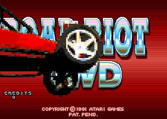 Road Riot 4WD Arcade Title Screen.